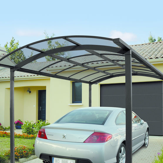 abri de voiture en aluminium et polycarbonate carport novoferm habitat. Black Bedroom Furniture Sets. Home Design Ideas