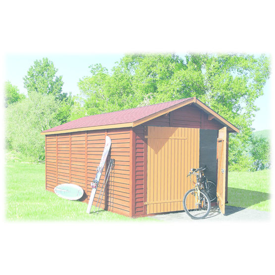 Abri garage en b ton aspect bois abri garage chapron leroy for Fabricant garage bois en kit