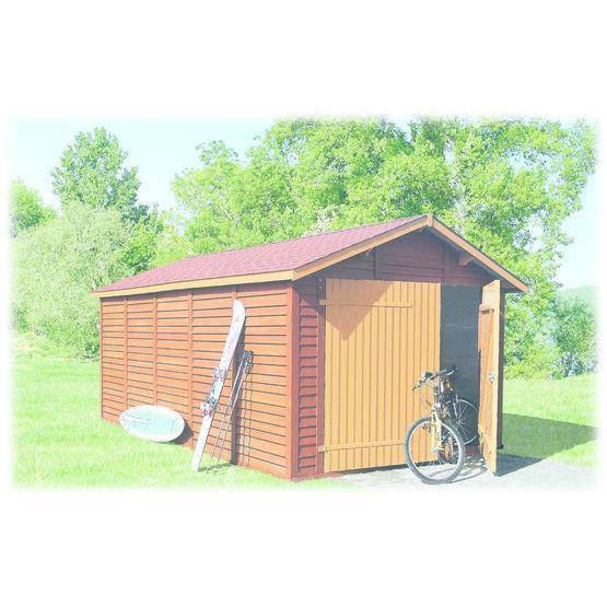 Abri garage en b ton aspect bois abri garage chapron leroy for Construction garage en beton