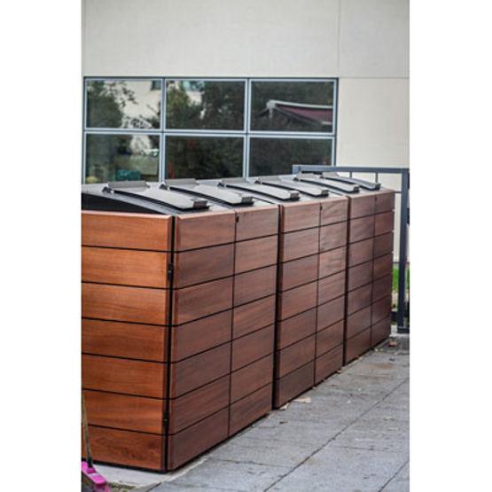 Abris conteneurs en acier et bois jusqu 39 750 litres for Conteneur bois