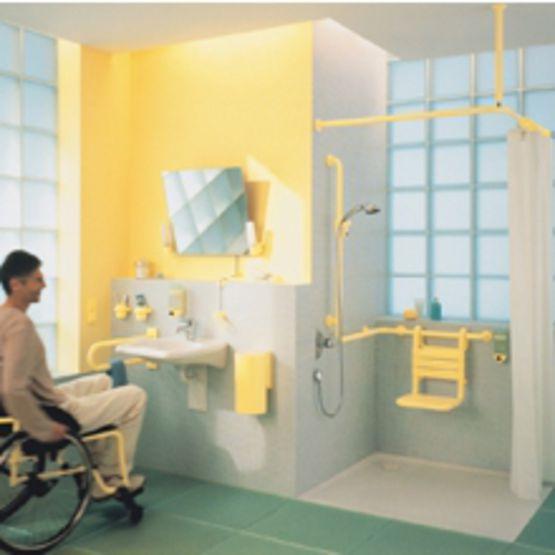 Accessoires Sanitaire Pour Handicapes : Accessoires de salles bains en nylon pour handicapés hewi