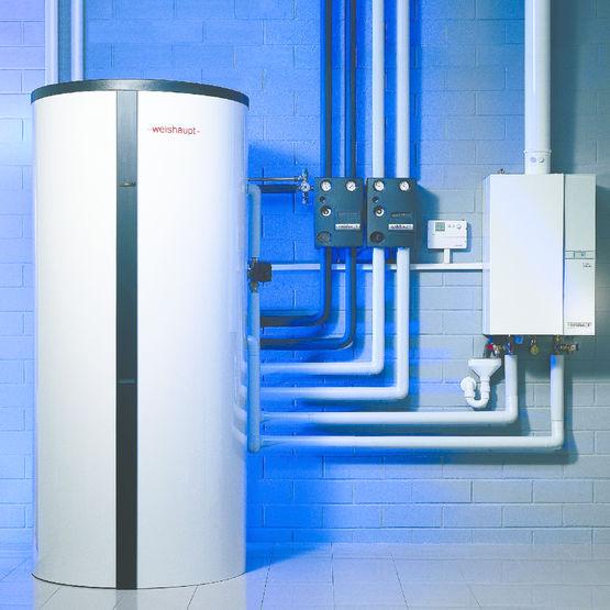 Accumulateur d nergie solaire pour ecs et chauffage wes 660 c et 910 c weishaupt - Chauffage d appoint solaire ...