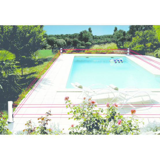 Alarme p rim trique infrarouge pour piscine saturn aqualux for Alarme piscine perimetrique