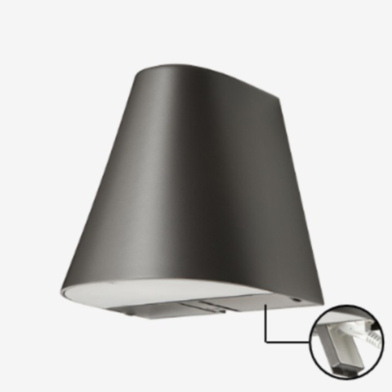 applique murale led ext rieure clairage bidirectionnel 15 et 95. Black Bedroom Furniture Sets. Home Design Ideas