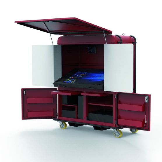 Cabine Bim Armoire Mobile Tout Terrain Avec Table Tactile Prete A