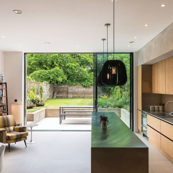 baie coulissante en aluminium dormant cach reynaers aluminium. Black Bedroom Furniture Sets. Home Design Ideas