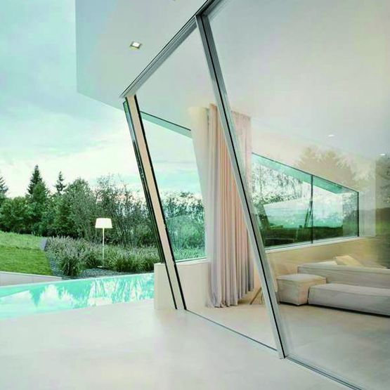 baie coulissante inclin e en aluminium sky frame slope sky frame. Black Bedroom Furniture Sets. Home Design Ideas