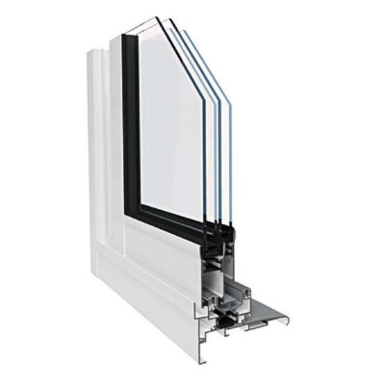 baie vitr e coulissant aluminium profil carr classique ou galandage aliz a millet. Black Bedroom Furniture Sets. Home Design Ideas