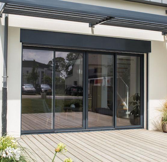 baie vitr e coulissante aluminium novaltuce bouvet. Black Bedroom Furniture Sets. Home Design Ideas
