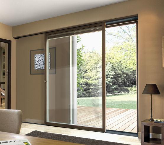 baie vitr e simple coulissant mural multimat riaux d bo tement m3ds millet portes fen tres. Black Bedroom Furniture Sets. Home Design Ideas