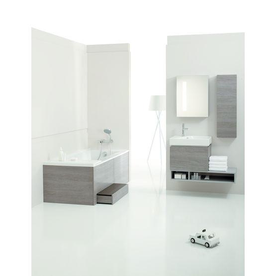 baignoire avec rangement intgr trendy salle with. Black Bedroom Furniture Sets. Home Design Ideas