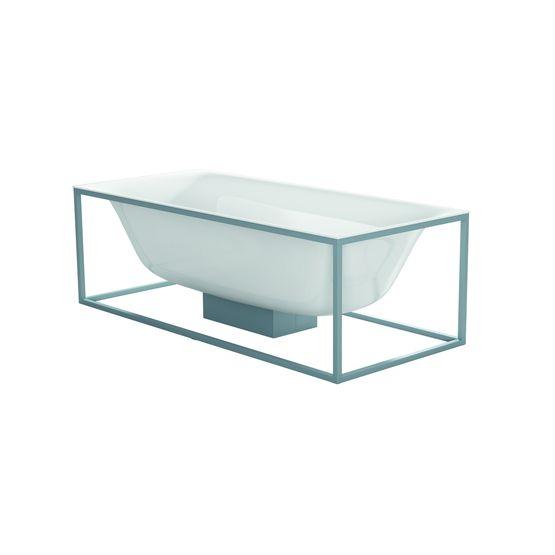 baignoire en lot en acier titane vitrifi avec cadre et cache siphon bettelux shape bette. Black Bedroom Furniture Sets. Home Design Ideas