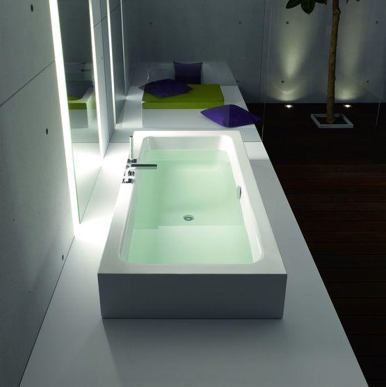 baignoire encastrable ou semi encastrable en acier titane vitrifi. Black Bedroom Furniture Sets. Home Design Ideas