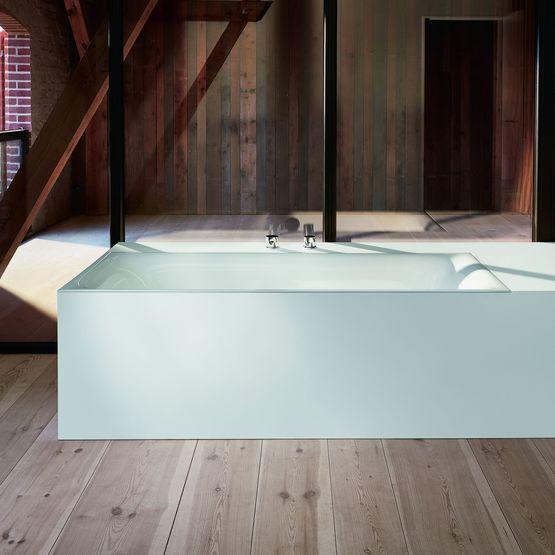 baignoire en acier titane vitrifi encastrable semi encastrable ou en il t. Black Bedroom Furniture Sets. Home Design Ideas