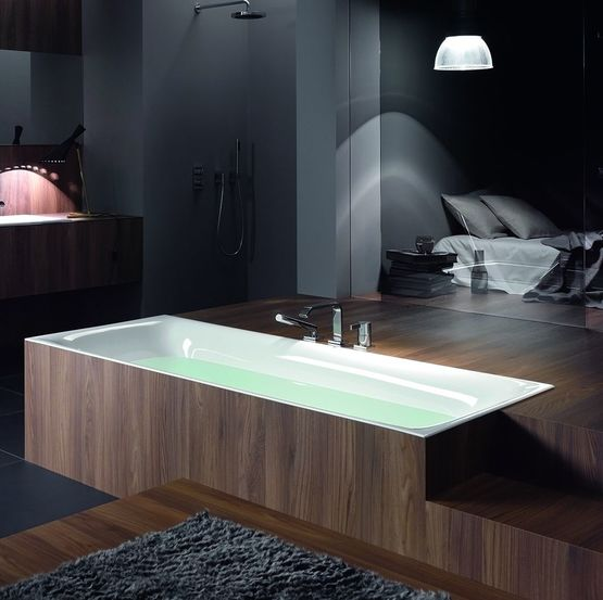 bettelux baignoire en acier titane vitrifi encastrable semi encastrable ou en il t. Black Bedroom Furniture Sets. Home Design Ideas