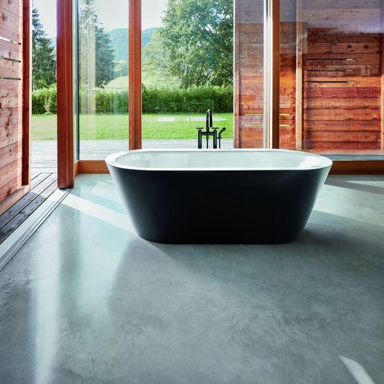 baignoire ovale en lot sans joints apparents murale ou. Black Bedroom Furniture Sets. Home Design Ideas