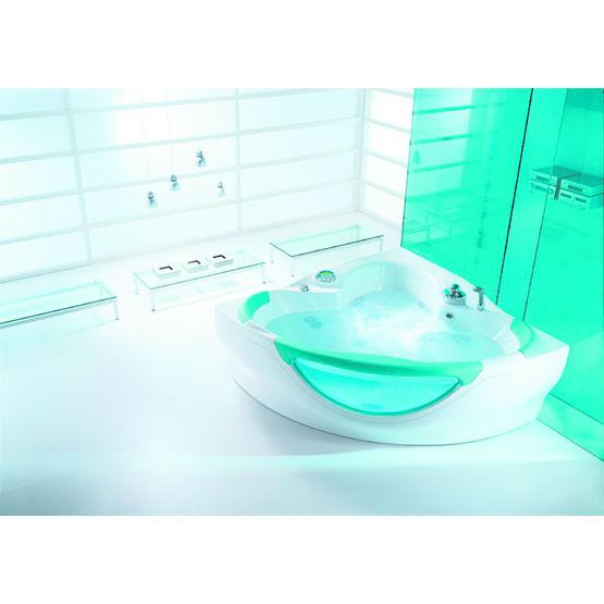 Baignoire quart de rond fa ade arrondie en verre for Teuco baignoire