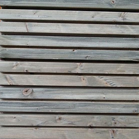 Bardage en bois massif d 39 aspect claire voie gris par impr gnation bardage vibrato en douglas - Bardage claire voie douglas ...