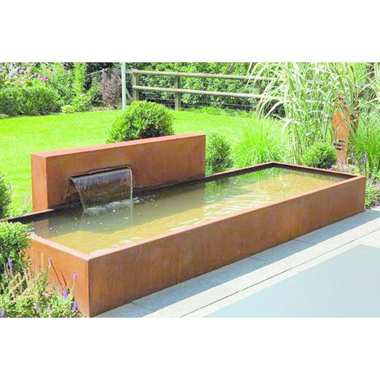 bassin et mur d 39 eau en acier corten ou aluminium univers eau so garden. Black Bedroom Furniture Sets. Home Design Ideas