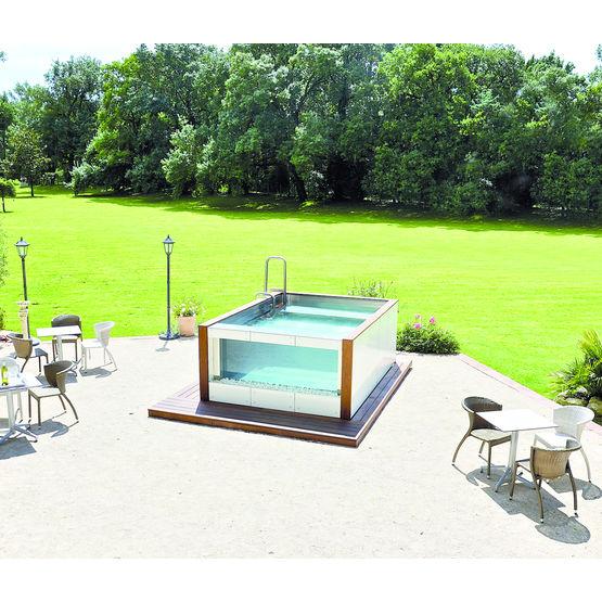 bassin spa chauff modulable pour int rieur ou ext rieur aqualounge ur 39 bain. Black Bedroom Furniture Sets. Home Design Ideas