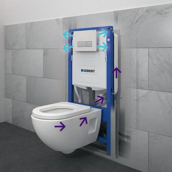 b ti support autoportant pour wc suspendu r servoir pr par pour aspiration des odeurs avec. Black Bedroom Furniture Sets. Home Design Ideas
