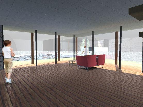 bloc d 39 angle coulissant ou galandage en aluminium la fen tre yoris. Black Bedroom Furniture Sets. Home Design Ideas