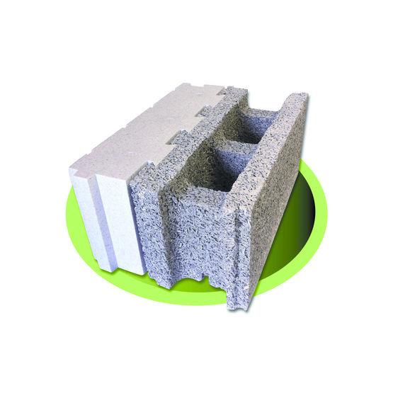 Bloc de coffrage isolant en b ton bois ciment isolation ext rieure int gr e - Isolation exterieure polystyrene graphite ...