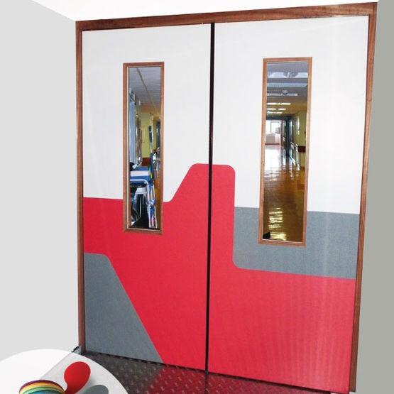 bloc porte coupe feu double action motoris automatique crouzilles. Black Bedroom Furniture Sets. Home Design Ideas