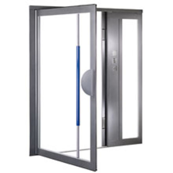 Bloc Porte D 39 Entr E Antipince Doigts En Profil Acier Jansen Descasystem
