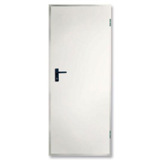Bloc porte en acier pr peint blanc novoferm habitat Porte interieure sans bloc porte