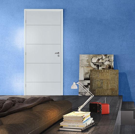 bloc porte righini graphik avec huisserie en mdf hydrofuge. Black Bedroom Furniture Sets. Home Design Ideas