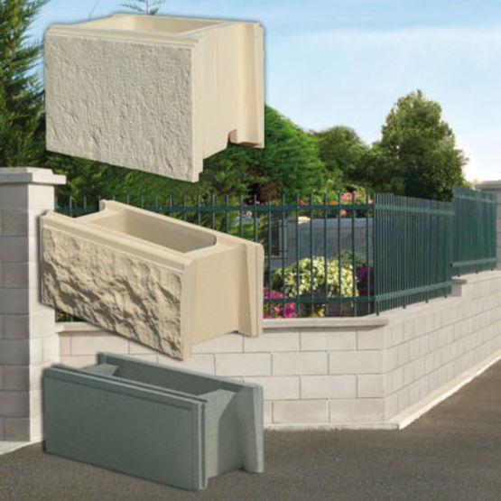 blocs d 39 aspect pierre pour murets de cl ture murets weser. Black Bedroom Furniture Sets. Home Design Ideas