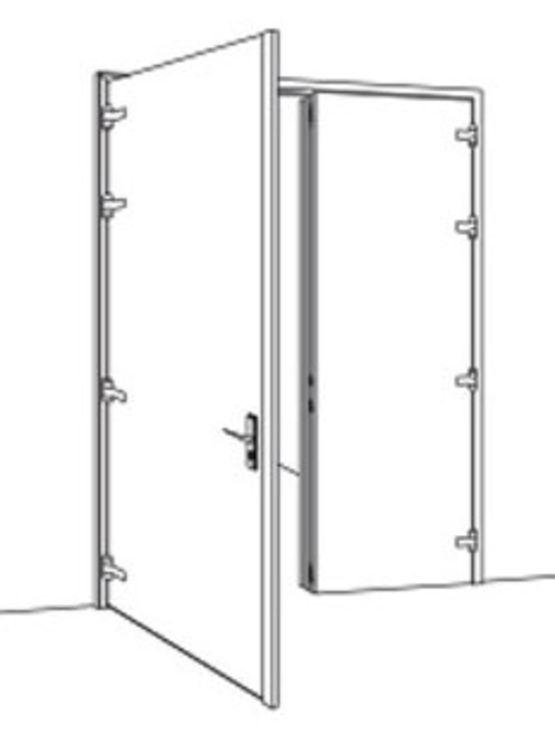blocs portes battants en acier cf et pf deux heures b120 portafeu. Black Bedroom Furniture Sets. Home Design Ideas