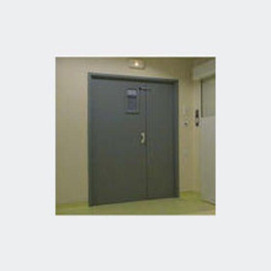 Blocs portes bois cf1 2 heure un ou deux vantaux cf30 - Porte metallique double battant ...