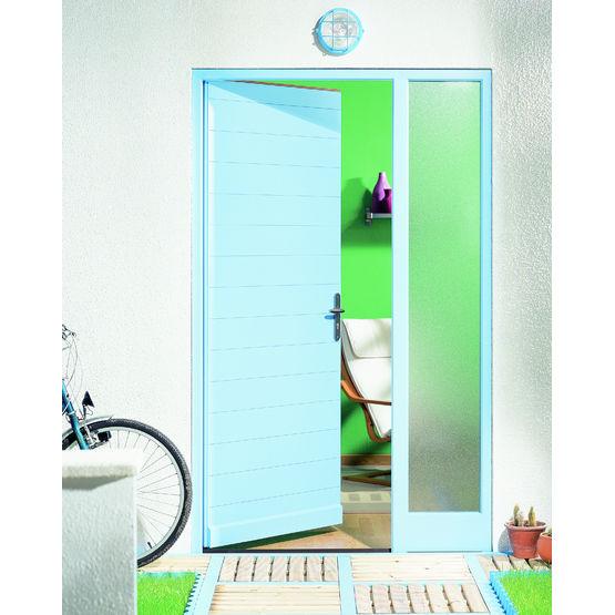 Blocs portes d 39 entr e en bois rainur et lasur portes contemporaines samic for Bloc porte exterieur bois