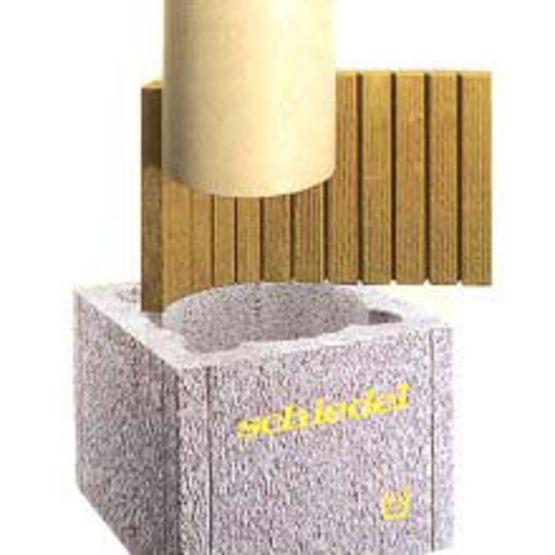 Boisseaux en b ton all g avec me isolante et conduit for Construire un conduit de cheminee exterieur