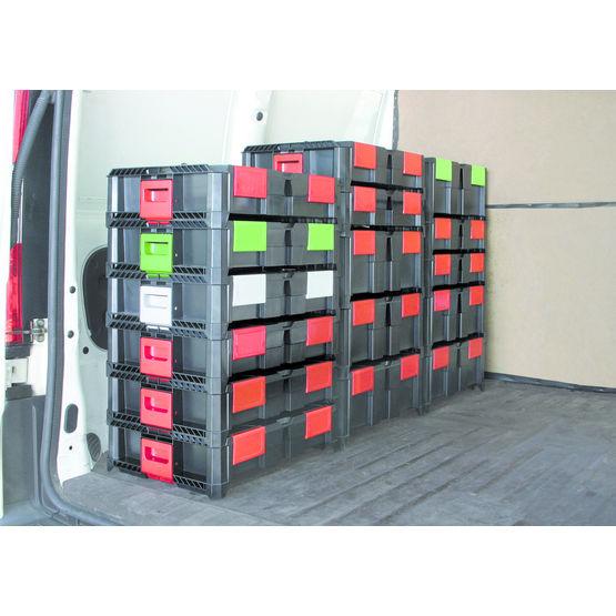 Boîtes de rangement empilables en trois tailles | Box On Box - Alsafix