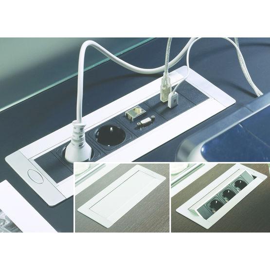 bo tier de prises tournantes encastrer netbox turn hettich. Black Bedroom Furniture Sets. Home Design Ideas