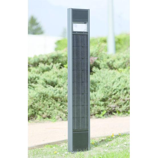 Borne d 39 clairage solaire intelligent photomaton for Borne eclairage exterieur solaire