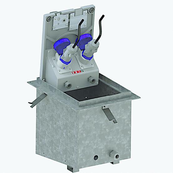borne de distribution d nergie compacte et escamotable. Black Bedroom Furniture Sets. Home Design Ideas