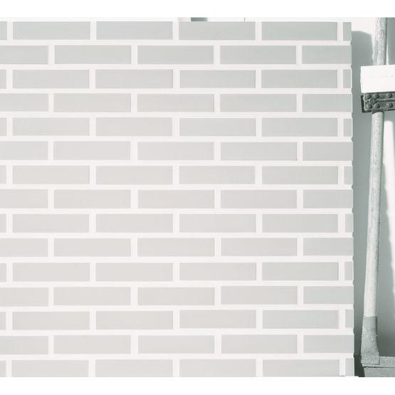 Brique de fa ade parement fini gris ou blanc lisse brique terre lisse terca wienerberger - Parement brique blanche ...