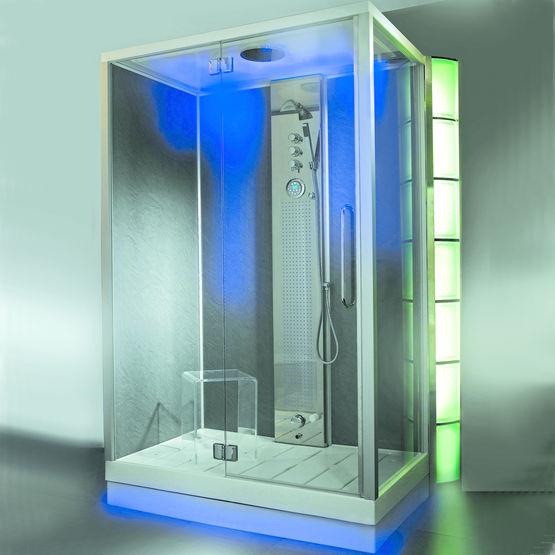 Cabine de douche aux 500 minijets xxl must jedo - Cabine douche exterieure ...