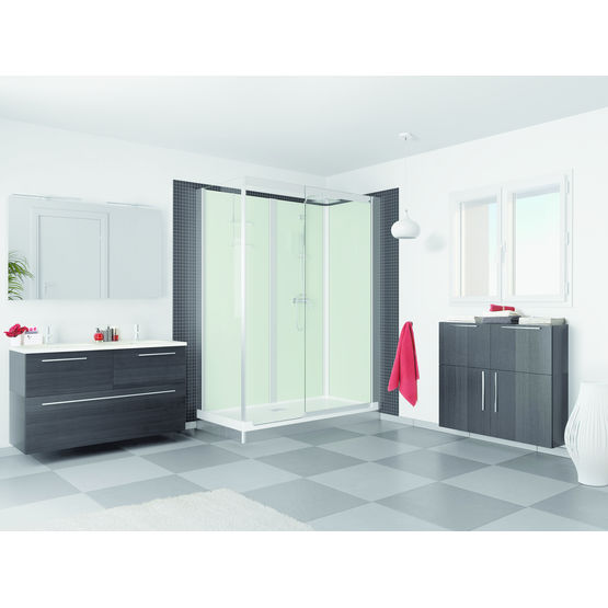 cabine de douche compl te avec receveur extra plat. Black Bedroom Furniture Sets. Home Design Ideas
