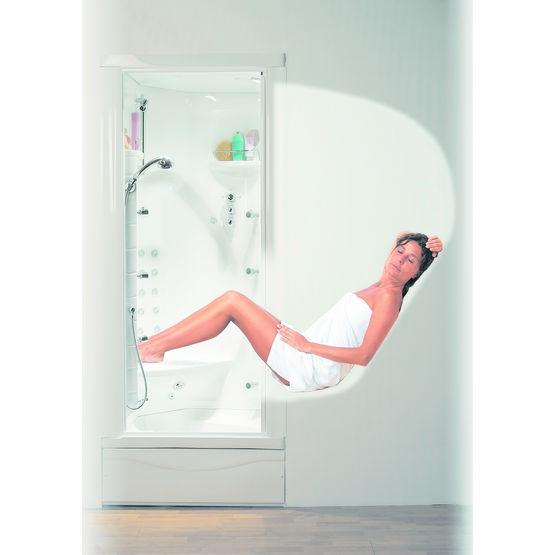 cabine de douche hydromassante position semi allong e. Black Bedroom Furniture Sets. Home Design Ideas