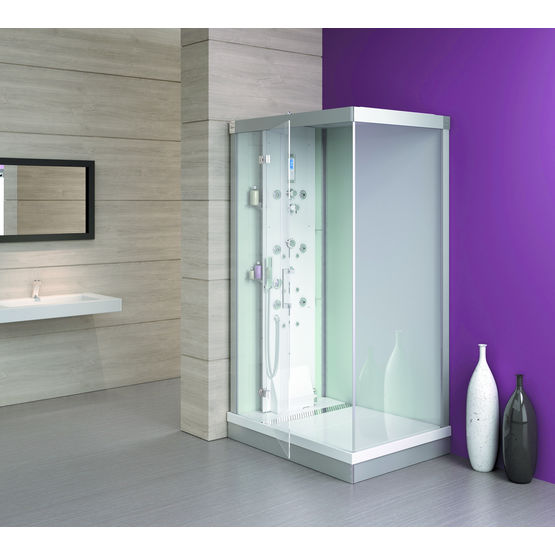 cabine de douche hydromassante sur circuit ferm kinedo baln o douche. Black Bedroom Furniture Sets. Home Design Ideas