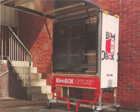 bim box cabine mobile de chantier pour le stockage et la pr sentation des donn es batiproduits. Black Bedroom Furniture Sets. Home Design Ideas