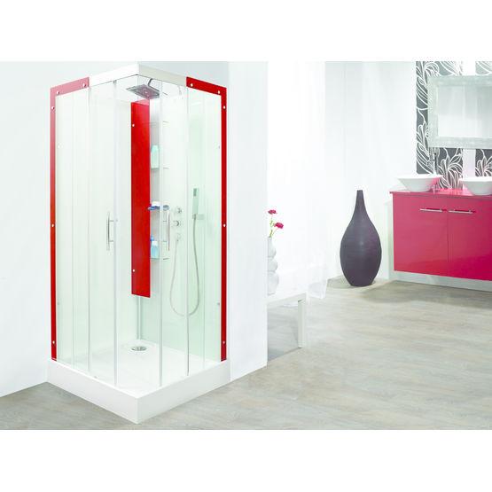 Cabines de douche avec profil s et colonne de rangement - Colonne rangement douche ...