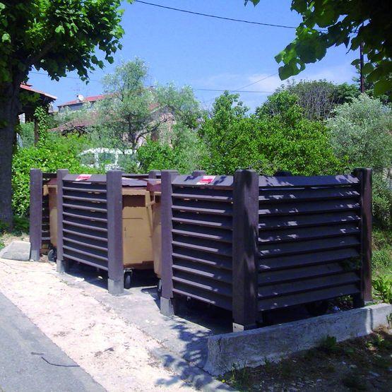 Cache conteneurs poubelles et d chets en plastique for Fabricant conteneur