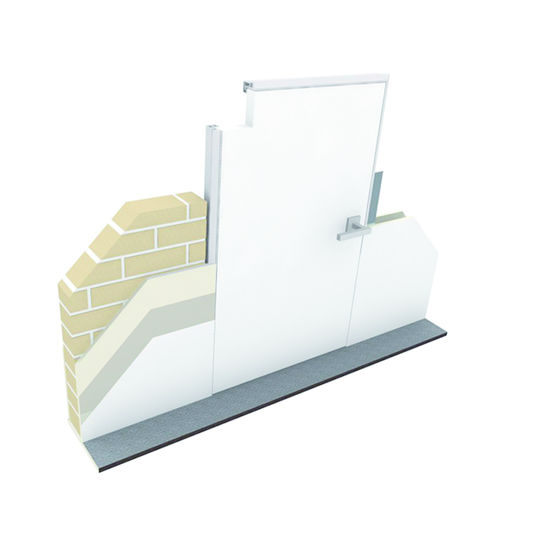 cadre invisible pour int gration d 39 une porte battante argenta invisidoor renson. Black Bedroom Furniture Sets. Home Design Ideas