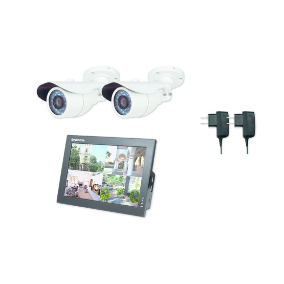 cam ras de surveillance avec enregistreur cran lcd kit xkit04cvr1 came. Black Bedroom Furniture Sets. Home Design Ideas